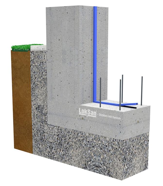 neubau mauerinjektion mauertrockenlegung loksan dichtsysteme e u. Black Bedroom Furniture Sets. Home Design Ideas